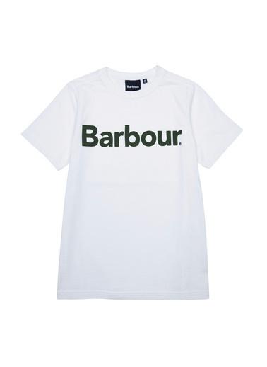 Barbour Erkek Çocuk Logo T-Shirt Wh73 White Beyaz